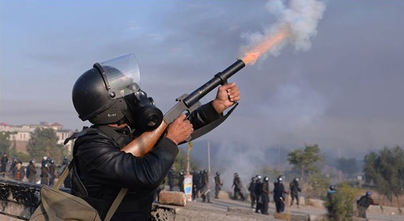 Police Shelling during Faizabad Operation