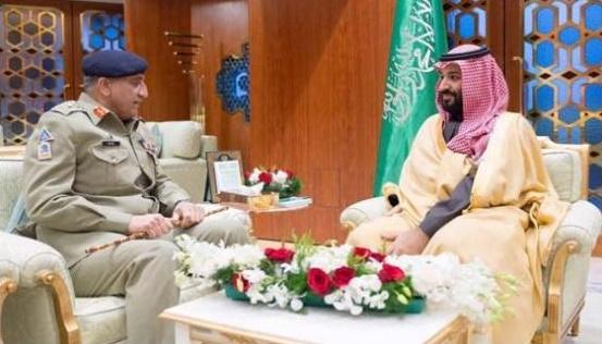 Gen Bajwa Meets Prince Muhammad Bin Salman