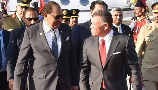 Jordan King Abdullah II in Pakistan