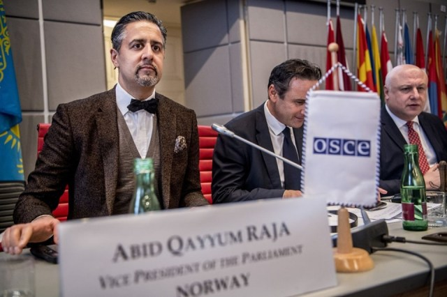 Abid Qayyum Raja appointed as member of OSCE