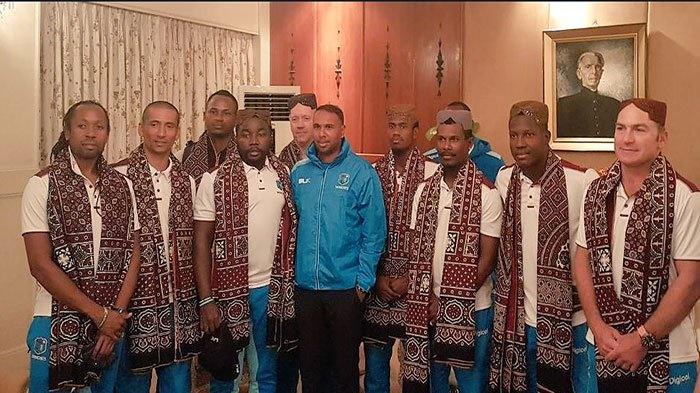 West Indies Team in Karachi