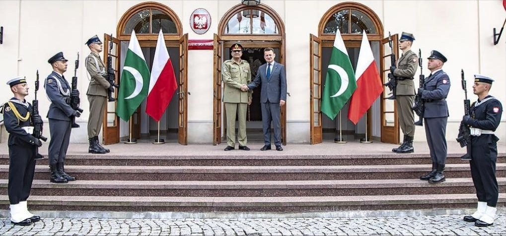 General Qamar Javed Bajwa, Chief of Army Staff (COAS) reached Poland on an official visit.