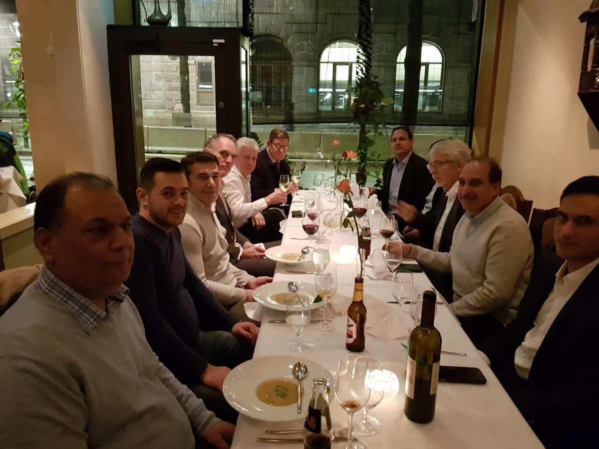 نارویجن آٹو سنٹر کے پروپرائٹر شیخ آفتاب کی جانب اوسلو میں عشائیہ تقریب