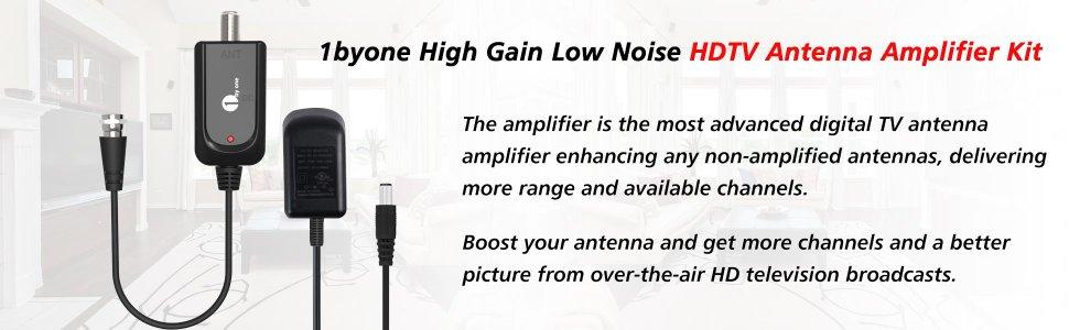 1byone Omni-directional Outdoor Antenna - 60 Miles Range