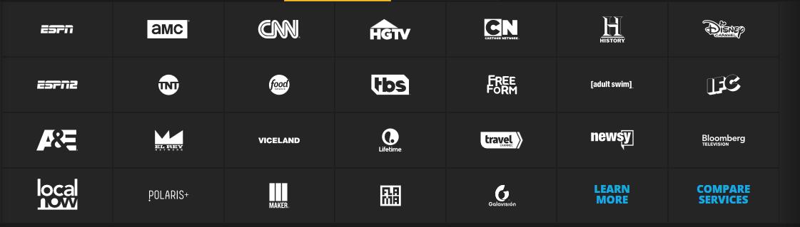 sling tv lineup