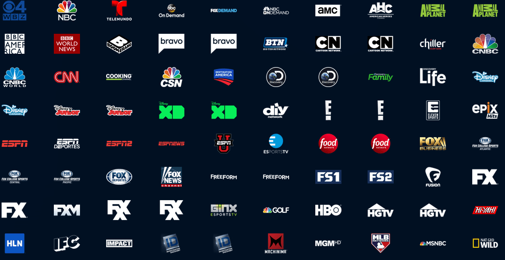 Playstation Vue lineup