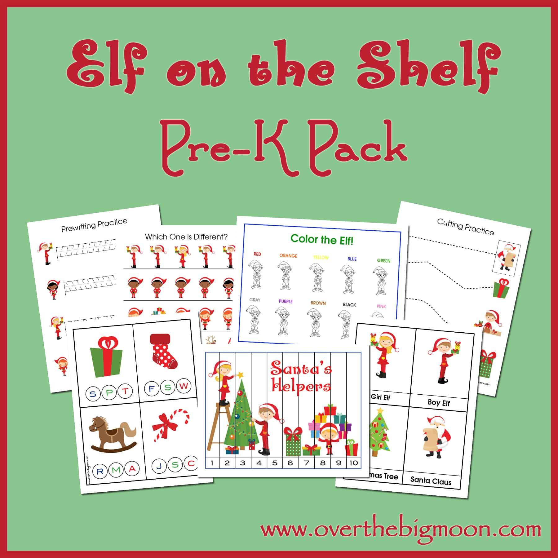 Elf On The Shelf Pre K Pack