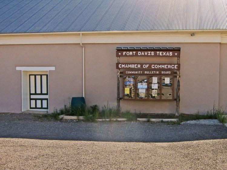Chamber of Commerce Fort Davis Texas