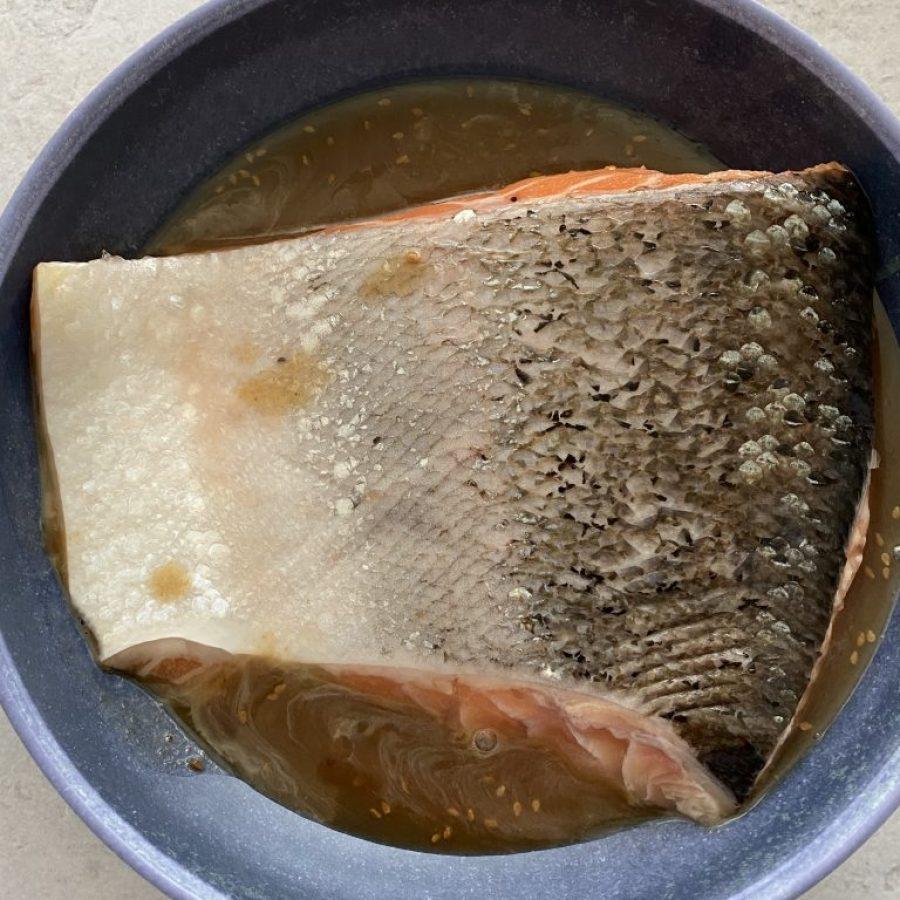 marinate salmon in teriyaki sauce