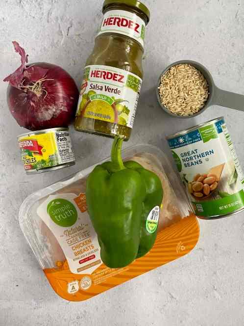 ingredients for chicken verde soup