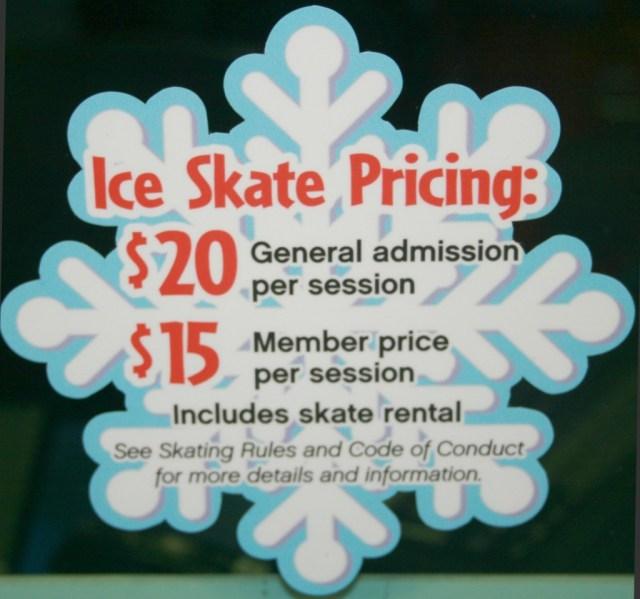 Ice Skating Pricing