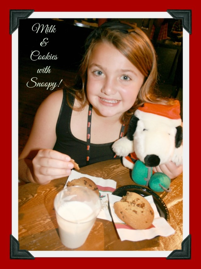 Milk and Cookies With Snoopy