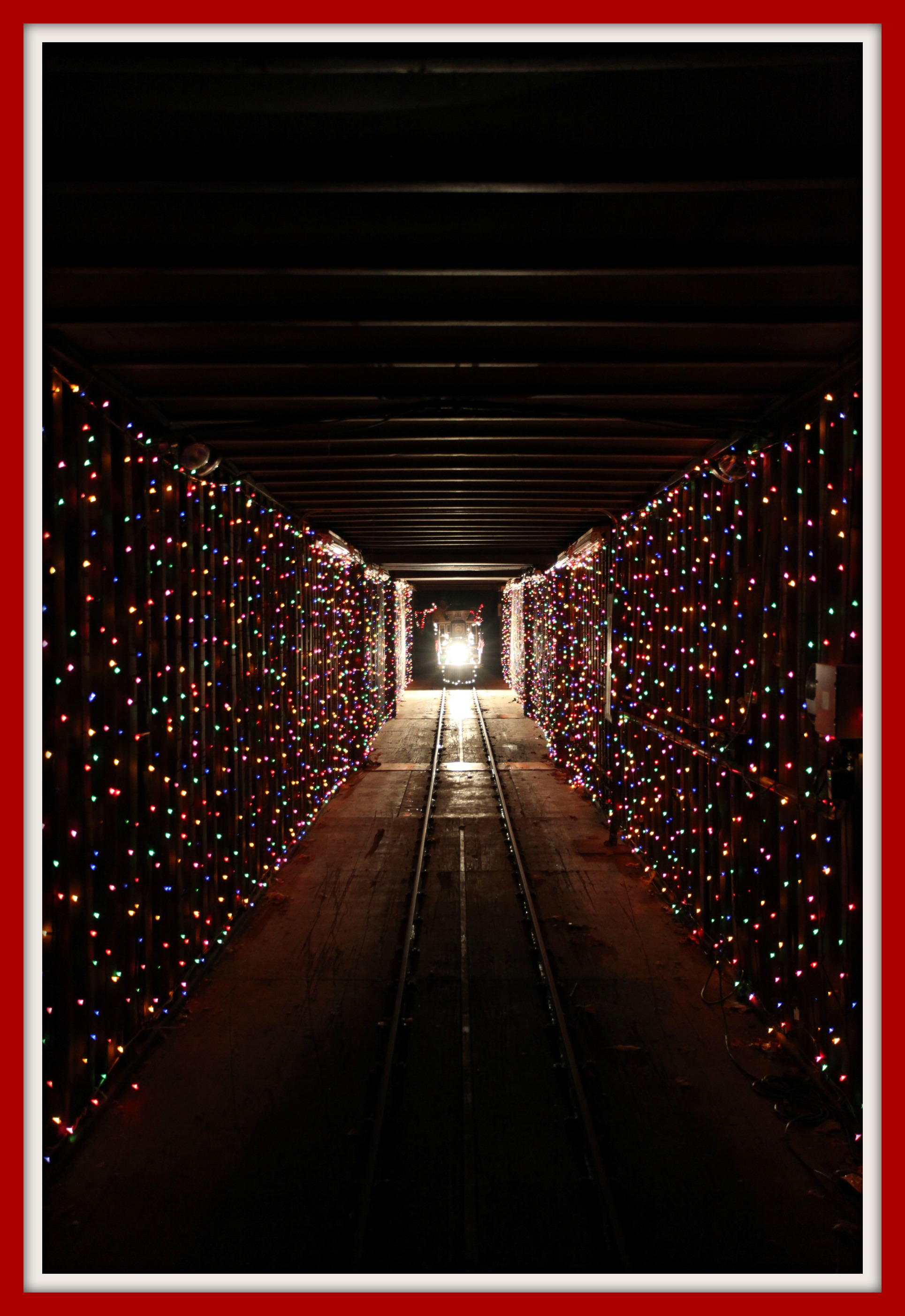 Train In The Tunnel Of