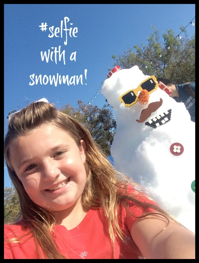 selfie with a snowman