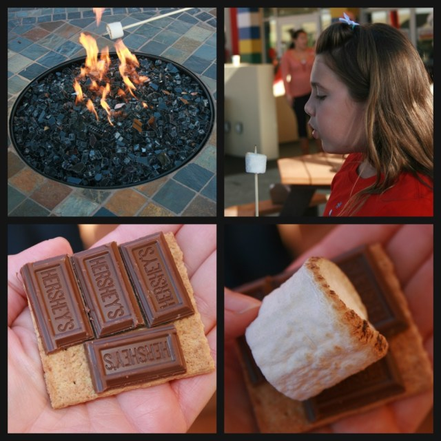 s'mores at Legoland collage