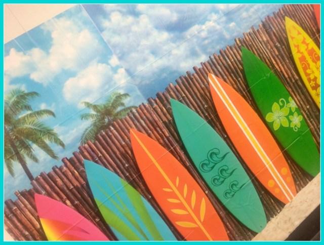surfboard backdrop