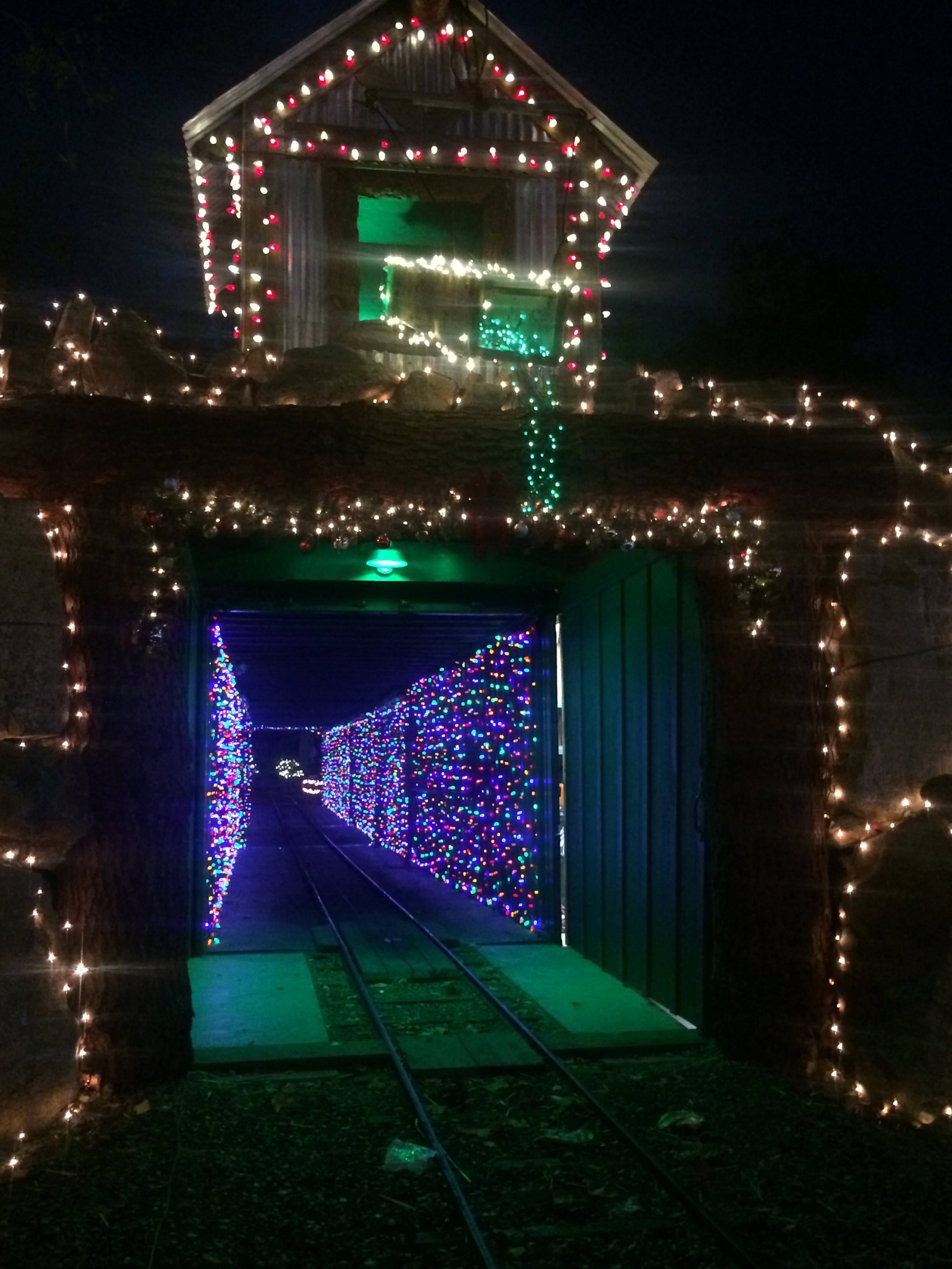after visiting with santa hop back aboard the train and enjoy the colorful christmas lights and decorations as well as the magical tunnel of lights - Christmas Light Train