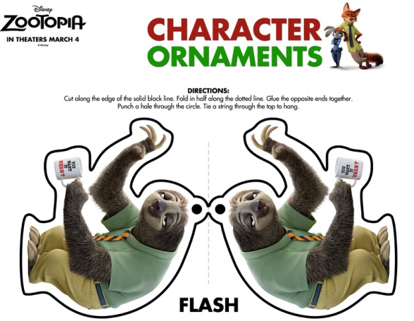 ZOOTOPIA-Ornaments-Flash