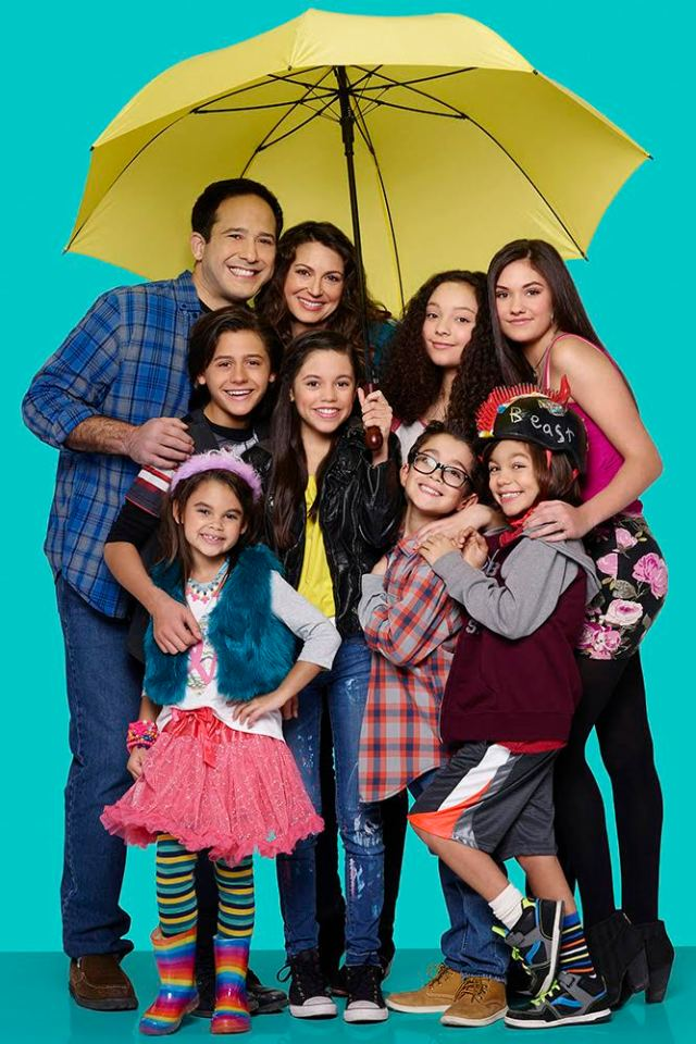 "STUCK IN THE MIDDLE - Disney Channel's ""Stuck in the Middle"" stars Joe Nieves as Tom Diaz, Isaak Presley as Ethan Diaz, Ariana Greenblatt as Daphne Diaz, Jenna Ortega as Harley Diaz, Cerina Vincent as Suzy Diaz, Kayla Maisonet as Georgie Diaz, Nicolas Bechtel as Lewie Diaz, Malachi Barton as Beast Diaz and Ronni Hawk as Rachel Diaz. (Disney Channel/Craig Sjodin)"