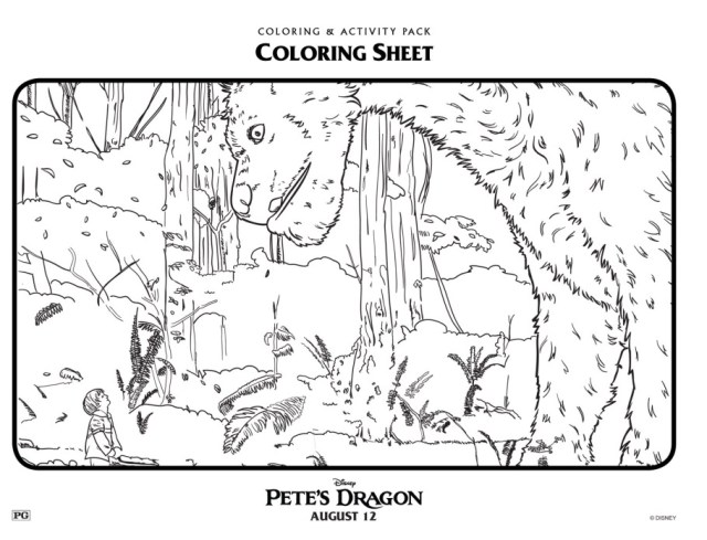 petes-dragon-coloring-page-forest
