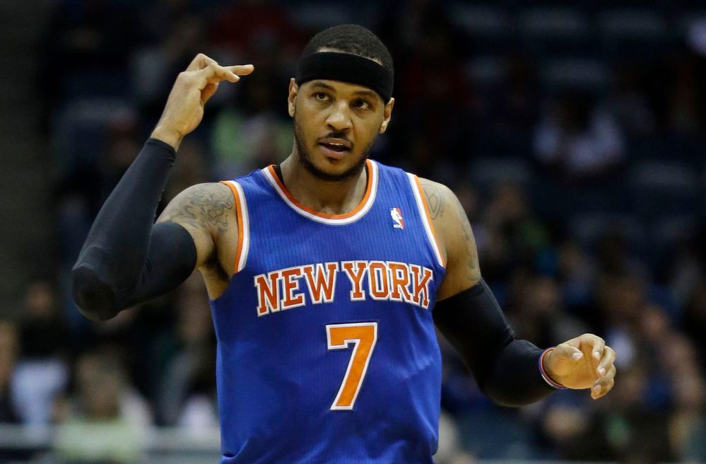 Carmelo Anthony as a New York Knick.