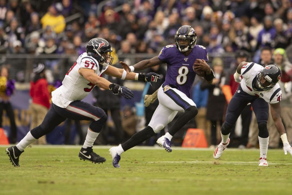 Ravens Lamar Jackson makes a habit of running away from defenders.