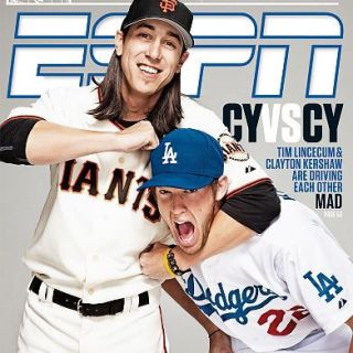 Tim Lincecum giving Clayton Kershaw a noogie