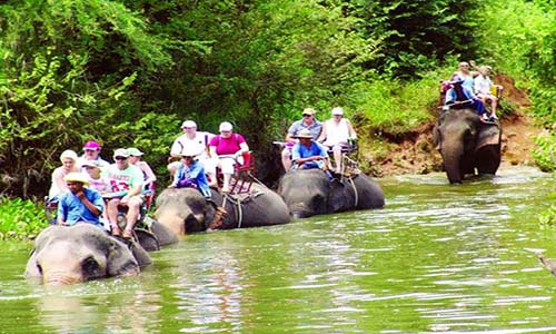 olifanten toer Thailand Hua hin