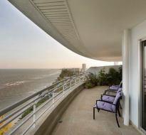 Sandy Beach Zeezicht vanaf balkon (7)