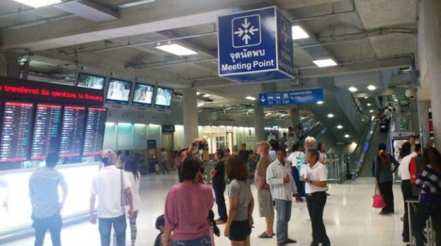 meetingpoint for the Bangkok airport taxi reservation