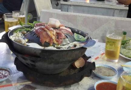 type Thaise / Koreaans barbeque.