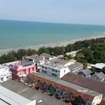 Cha-am beach and boulevard