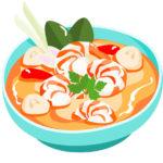 Heerlijke Thaise soep die heet: Tom Yam Kong