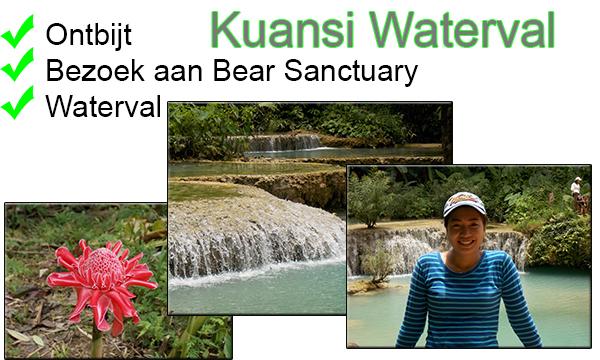 Groepsvakantie in Noord Laos waterval