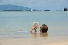 Lees in het water