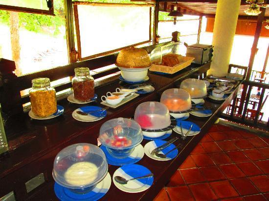 ontbijt in het resort Samui eiland
