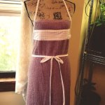 Purple Apron With Fabric Trim