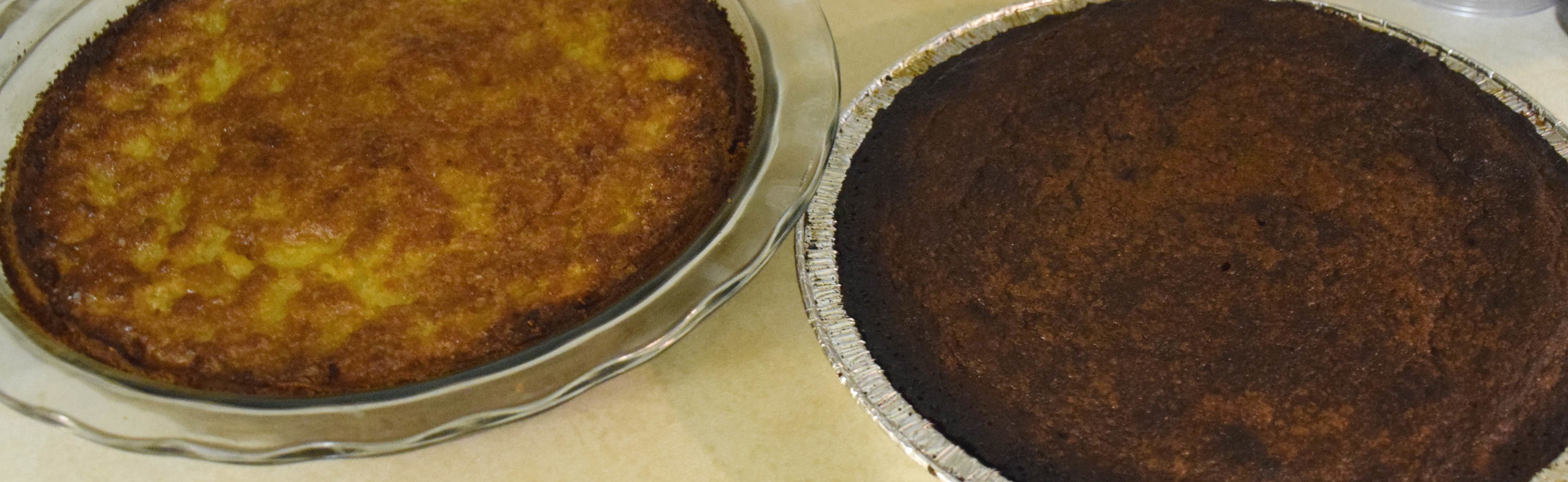 southern chess pie and chocolate chess pie ready for the eating