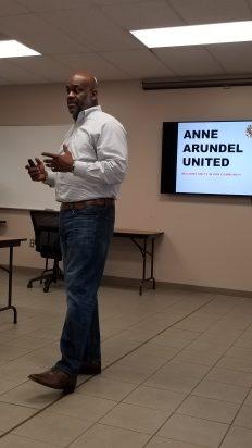 Derek Matthews, Anne Arundel United speaker