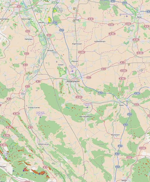 Anteil Naturwald der Landesforsten Kreis Hildesheim