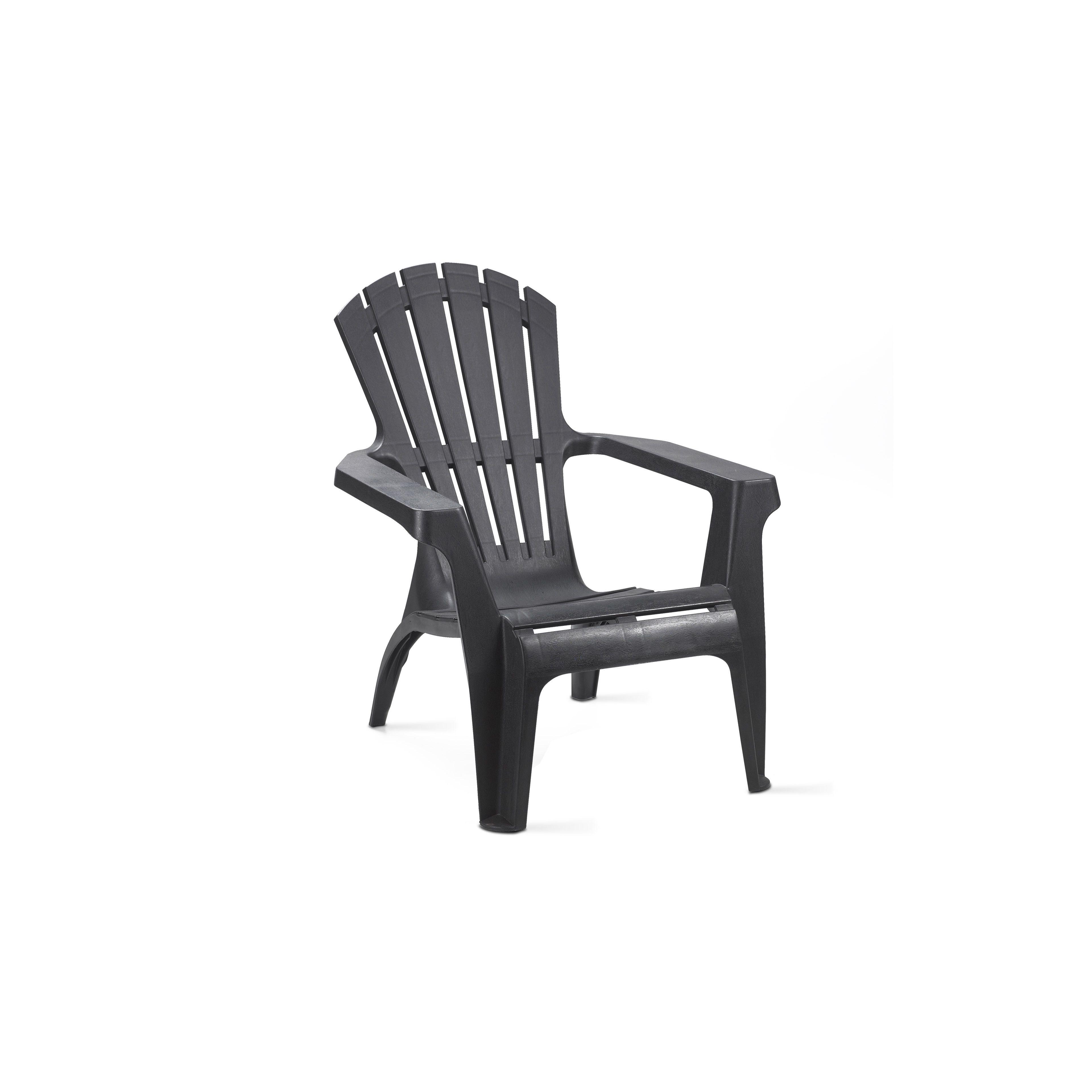 fauteuil de jardin en plastique pas cher