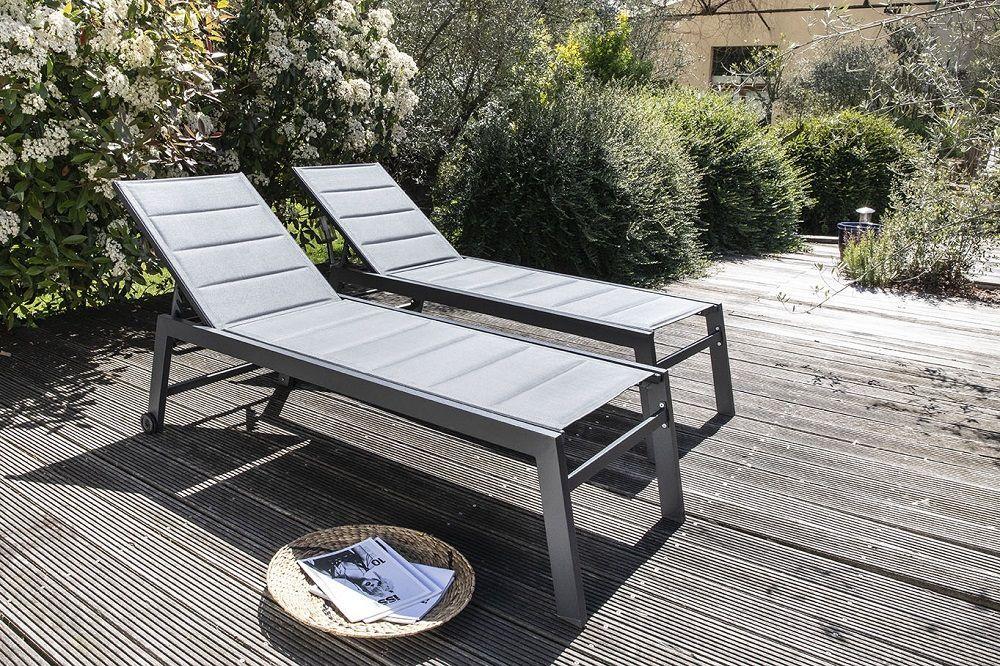 jardin bain de soleil ou chaise longue