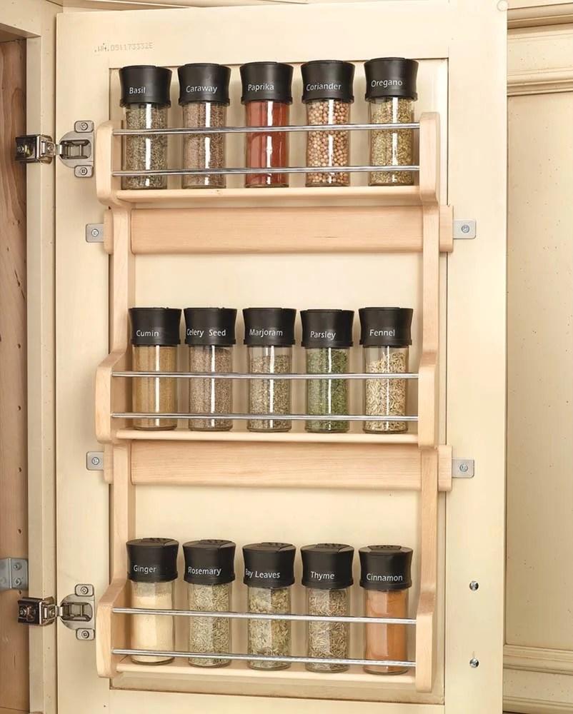 13 inch door mount spice rack