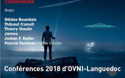 CONFERENCES 2018 D'OVNI-LANGUEDOC, 9ème édition