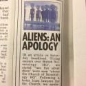 The Sun pede desculpas por ter publicado artigo a respeito de discos voadores sobrevoando o QG da Cientologia 1