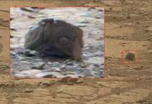 anomalia em rocha marciana