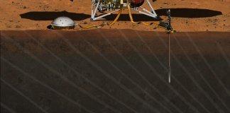 descida da sonda InSight da NASA em Marte