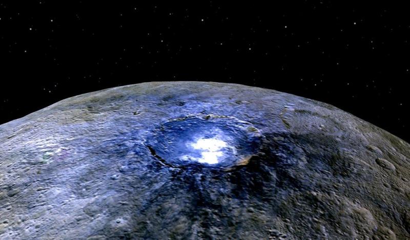 Ceres, o planeta anão entre Marte e Júpiter, possui água