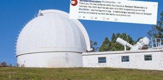 Mais 6 observatórios solares fechados