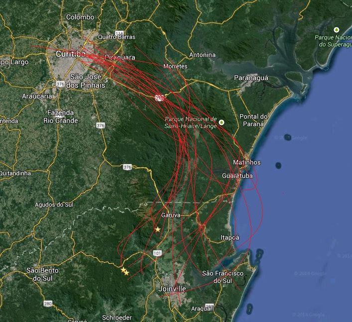 Avistamentos de OVNIs no sul do Brasil
